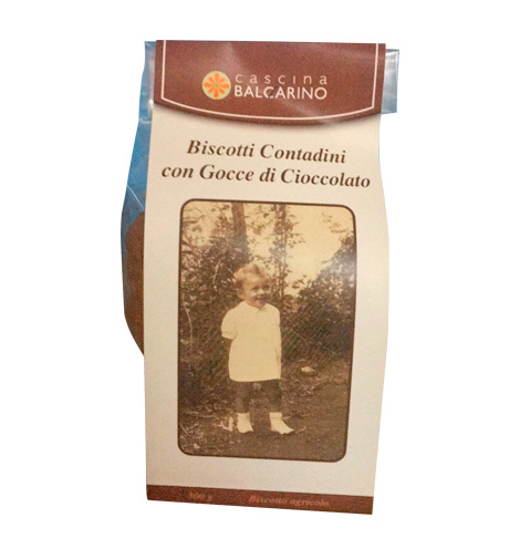 Biscotti contadini con gocce di cioccolato